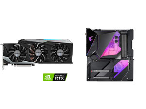 GIGABYTE GeForce RTX 3090 GAMING OC 24G Video Card GV-N3090GAMING OC-24GD and GIGABYTE Z490 AORUS XTREME WATERFORCE LGA 1200 Intel Z490 E-ATX Motherboard with Triple M.2 SATA 6Gb/s USB 3.2 Gen 2 WIFI 6 10 GbE LAN Dual Thunderbolt 3 All-In-O