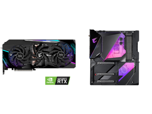 GIGABYTE AORUS GeForce RTX 3090 MASTER 24GB Video Card GV-N3090AORUS M-24GD and GIGABYTE Z490 AORUS XTREME WATERFORCE LGA 1200 Intel Z490 E-ATX Motherboard with Triple M.2 SATA 6Gb/s USB 3.2 Gen 2 WIFI 6 10 GbE LAN Dual Thunderbolt 3 All-In