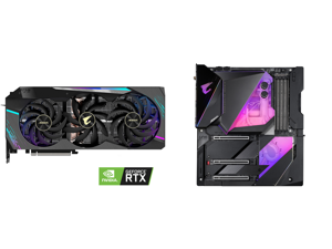 GIGABYTE AORUS GeForce RTX 3090 XTREME 24GB Video Card GV-N3090AORUS X-24GD and GIGABYTE Z490 AORUS XTREME WATERFORCE LGA 1200 Intel Z490 E-ATX Motherboard with Triple M.2 SATA 6Gb/s USB 3.2 Gen 2 WIFI 6 10 GbE LAN Dual Thunderbolt 3 All-In