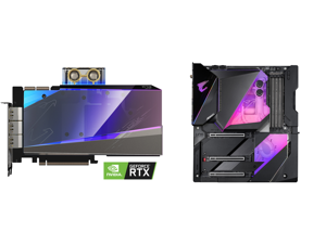 GIGABYTE AORUS GeForce RTX 3090 XTREME WATERFORCE WB 24G Graphics Card WATERFORCE Water Block Cooling System 24GB 384-bit GDDR6X GV-N3090AORUSX WB-24GD Video Card and GIGABYTE Z490 AORUS XTREME WATERFORCE LGA 1200 Intel Z490 E-ATX Motherboa