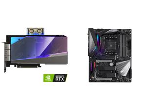 GIGABYTE AORUS GeForce RTX 3080 XTREME WATERFORCE WB 10G Graphics Card WATERFORCE Water Block Cooling System 10GB 320-bit GDDR6X GV-N3080AORUSX WB-10GD Video Card and GIGABYTE X570 AORUS MASTER (rev. 1.0) AMD Ryzen 3000 PCIe 4.0 SATA 6Gb/s