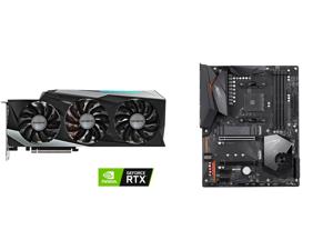 GIGABYTE GeForce RTX 3080 GAMING OC 10GB Video Card GV-N3080GAMING OC-10GD and GIGABYTE X570 AORUS ELITE AMD Ryzen 3000 PCIe 4.0 SATA 6Gb/s USB 3.2 AMD X570 ATX Motherboard