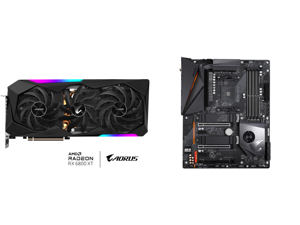 GIGABYTE AORUS Radeon RX 6800 XT MASTER 16G Graphics Card MAX-COVERED Cooling 16GB 256-bit GDDR6 GV-R68XTAORUS M-16GD Video Card and GIGABYTE X570 AORUS PRO WIFI AMD Ryzen 3000 PCIe 4.0 SATA 6Gb/s USB 3.2 AMD X570 ATX Motherboard
