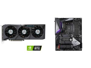 GIGABYTE GeForce RTX 3070 EAGLE OC 8GB Video Card GV-N3070EAGLE OC-8GD and GIGABYTE B550 AORUS MASTER AM4 AMD B550 ATX Motherboard with Triple M.2 SATA 6Gb/s USB 3.2 Gen 2 WIFI 6 2.5 GbE LAN PCIe 4.0