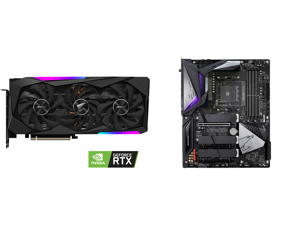 GIGABYTE AORUS GeForce RTX 3070 MASTER 8GB Video Card GV-N3070AORUS M-8GD and GIGABYTE B550 AORUS MASTER AM4 AMD B550 ATX Motherboard with Triple M.2 SATA 6Gb/s USB 3.2 Gen 2 WIFI 6 2.5 GbE LAN PCIe 4.0
