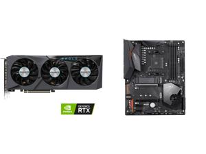 GIGABYTE GeForce RTX 3070 EAGLE OC 8GB Video Card GV-N3070EAGLE OC-8GD and GIGABYTE X570 AORUS ELITE AMD Ryzen 3000 PCIe 4.0 SATA 6Gb/s USB 3.2 AMD X570 ATX Motherboard