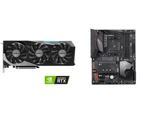 GIGABYTE GeForce RTX 3070 GAMING OC 8GB Video Card GV-N3070GAMING OC-8GD and GIGABYTE X570 AORUS ELITE AMD Ryzen 3000 PCIe 4.0 SATA 6Gb/s USB 3.2 AMD X570 ATX Motherboard