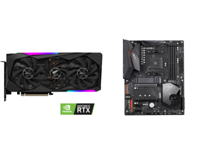 GIGABYTE AORUS GeForce RTX 3070 MASTER 8GB Video Card GV-N3070AORUS M-8GD and GIGABYTE X570 AORUS ELITE AMD Ryzen 3000 PCIe 4.0 SATA 6Gb/s USB 3.2 AMD X570 ATX Motherboard