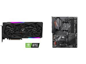 GIGABYTE AORUS GeForce RTX 3060 Ti MASTER 8GB Video Card GV-N306TAORUS M-8GD and GIGABYTE B550 AORUS ELITE AM4 AMD B550 ATX Motherboard with Dual M.2 SATA 6Gb/s USB 3.2 Gen 2 2.5 GbE LAN PCIe 4.0