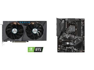 GIGABYTE GeForce RTX 3060 Ti EAGLE OC 8GB Video Card GV-N306TEAGLE OC-8GD and GIGABYTE B550 GAMING X V2 AM4 AMD B550 SATA 6Gb/s ATX AMD Motherboard