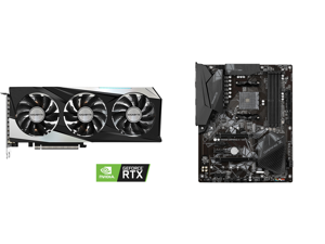 GIGABYTE GeForce RTX 3060 Ti GAMING OC 8GB Video Card GV-N306TGAMING OC-8GD and GIGABYTE B550 GAMING X V2 AM4 AMD B550 SATA 6Gb/s ATX AMD Motherboard