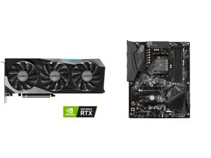 GIGABYTE GeForce RTX 3060 Ti GAMING PRO 8G Graphics Card 3 x WINDFORCE Fans 8GB 256-bit GDDR6 GV-N306TGAMING PRO-8GD Video Card and GIGABYTE B550 GAMING X V2 AM4 AMD B550 SATA 6Gb/s ATX AMD Motherboard