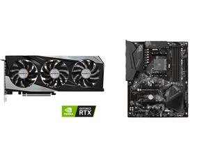 GIGABYTE GeForce RTX 3060 Ti GAMING PRO 8GB GDDR6 PCI Express 4.0 x16 ATX Video Card GV-N306TGAMING PRO-8GD (rev. 2.0) and GIGABYTE B550 GAMING X V2 AM4 AMD B550 SATA 6Gb/s ATX AMD Motherboard