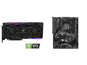 GIGABYTE AORUS GeForce RTX 3060 Ti MASTER 8GB Video Card GV-N306TAORUS M-8GD and GIGABYTE B550 GAMING X V2 AM4 AMD B550 SATA 6Gb/s ATX AMD Motherboard