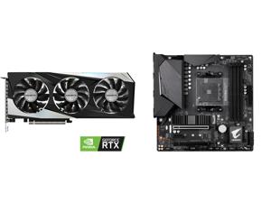 GIGABYTE GeForce RTX 3060 Ti GAMING OC 8GB Video Card GV-N306TGAMING OC-8GD and GIGABYTE B550M AORUS PRO AM4 AMD B550 Micro-ATX Motherboard with Dual M.2 SATA 6Gb/s USB 3.2 Gen 2 PCIe 4.0