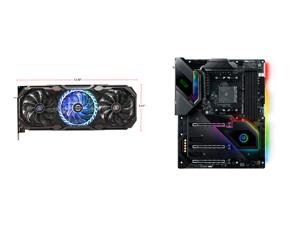 ASRock Radeon RX 6800 XT Taichi Gaming Graphics Card with 16GB GDDR6 AMD RDNA 2 (RX6800XT TCX 16GO) and ASRock B550 TAICHI RAZER Edition AM4 AMD B550 SATA 6Gb/s ATX AMD Motherboard