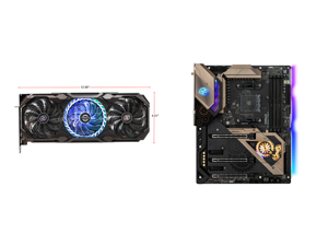 ASRock Radeon RX 6800 XT Taichi Gaming Graphics Card with 16GB GDDR6 AMD RDNA 2 (RX6800XT TCX 16GO) and ASRock B550 TAICHI AM4 AMD B550 SATA 6Gb/s ATX AMD Motherboard