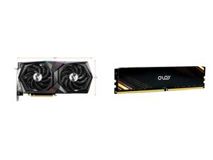 MSI Gaming GeForce RTX 3060 12GB GDDR6 PCI Express 4.0 Video Card RTX 3060 Gaming X 12G and OLOy 16GB (2 x 8GB) 288-Pin DDR4 SDRAM DDR4 3200 (PC4 25600) Desktop Memory Model ND4U0832160BB1DA