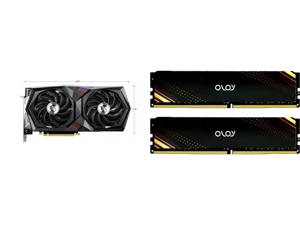 MSI Gaming GeForce RTX 3060 12GB GDDR6 PCI Express 4.0 Video Card RTX 3060 Gaming X 12G and OLOy 16GB (2 x 8GB) 288-Pin DDR4 SDRAM DDR4 3600 (PC4 28800) Desktop Memory Model ND4U0836180BB1DA