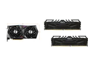 MSI Gaming GeForce RTX 3060 12GB GDDR6 PCI Express 4.0 Video Card RTX 3060 Gaming X 12G and OLOy 16GB (2 x 8GB) 288-Pin DDR4 SDRAM DDR4 4000 (PC4 32000) Desktop Memory Model MD4U0840180BJ0DA