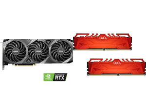 MSI Ventus GeForce RTX 3070 8GB GDDR6 PCI Express 4.0 Video Card RTX 3070 VENTUS 3X OC and OLOy 16GB (2 x 8GB) 288-Pin DDR4 SDRAM DDR4 3600 (PC4 28800) Desktop Memory Model MD4U0836180BHRDA