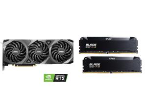 MSI Ventus GeForce RTX 3070 8GB GDDR6 PCI Express 4.0 Video Card RTX 3070 VENTUS 3X OC and OLOy Blade RGB 16GB (2 x 8GB) 288-Pin DDR4 SDRAM DDR4 3200 (PC4 25600) Desktop Memory Model ND4U0832162BRKDE