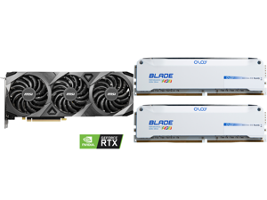 MSI Ventus GeForce RTX 3070 8GB GDDR6 PCI Express 4.0 Video Card RTX 3070 VENTUS 3X OC and OLOy Blade RGB 16GB (2 x 8GB) 288-Pin DDR4 SDRAM DDR4 3600 (PC4 28800) Desktop Memory Model ND4U0836182BRWDE