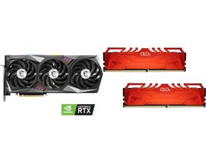 MSI Gaming GeForce RTX 3070 8GB GDDR6 PCI Express 4.0 Video Card RTX 3070 GAMING X TRIO and OLOy 16GB (2 x 8GB) 288-Pin DDR4 SDRAM DDR4 3600 (PC4 28800) Desktop Memory Model MD4U0836180BHRDA