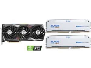 MSI Gaming GeForce RTX 3070 8GB GDDR6 PCI Express 4.0 Video Card RTX 3070 GAMING X TRIO and OLOy Blade RGB 16GB (2 x 8GB) 288-Pin DDR4 SDRAM DDR4 3600 (PC4 28800) Desktop Memory Model ND4U0836182BRWDE
