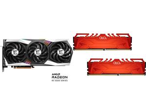 MSI Gaming Radeon RX 6800 XT 16GB GDDR6 PCI Express 4.0 CrossFireX Support Video Card RX 6800 XT GAMING X TRIO 16G and OLOy 16GB (2 x 8GB) 288-Pin DDR4 SDRAM DDR4 3600 (PC4 28800) Desktop Memory Model MD4U0836180BHRDA