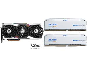 MSI Gaming Radeon RX 6800 XT 16GB GDDR6 PCI Express 4.0 CrossFireX Support Video Card RX 6800 XT GAMING X TRIO 16G and OLOy Blade RGB 16GB (2 x 8GB) 288-Pin DDR4 SDRAM DDR4 3600 (PC4 28800) Desktop Memory Model ND4U0836182BRWDE