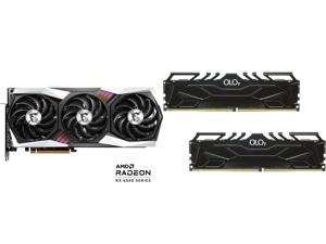 MSI Gaming Radeon RX 6800 XT 16GB GDDR6 PCI Express 4.0 CrossFireX Support Video Card RX 6800 XT GAMING X TRIO 16G and OLOy 32GB (2 x 16GB) 288-Pin DDR4 SDRAM DDR4 3000 (PC4 24000) Desktop Memory Model MD4U163016CGDA