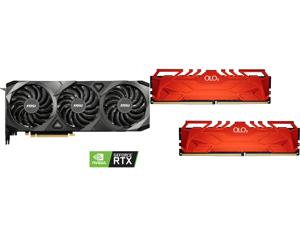 MSI Ventus GeForce RTX 3090 24GB GDDR6X PCI Express 4.0 SLI Support Video Card RTX 3090 VENTUS 3X 24G OC and OLOy 16GB (2 x 8GB) 288-Pin DDR4 SDRAM DDR4 3600 (PC4 28800) Desktop Memory Model MD4U0836180BHRDA