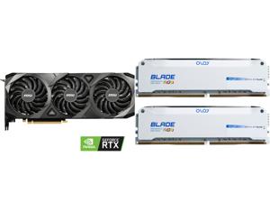 MSI Ventus GeForce RTX 3090 24GB GDDR6X PCI Express 4.0 SLI Support Video Card RTX 3090 VENTUS 3X 24G OC and OLOy Blade RGB 16GB (2 x 8GB) 288-Pin DDR4 SDRAM DDR4 3600 (PC4 28800) Desktop Memory Model ND4U0836182BRWDE