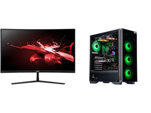 "Acer EI272UR Pbmiiipx 27"" WQHD 2560 x 1440 2K 144Hz 3xHDMI DisplayPort Built-in Speakers AMD FreeSync 2 Backlit LED Curved Gaming Monitor and ABS Gladiator Gaming PC - Intel i7 10700K - GeForce RTX 3080 - G.Skill TridentZ RGB 16GB DDR4 3200"