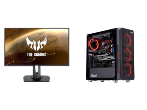 """ASUS TUF Gaming VG279QM 27"""" Full HD 1920 x 1080 1 ms (GTG) 280Hz (Overclocking) 2 x HDMI DisplayPort G-SYNC ELMB SYNC HDR Built-in Speakers LED Backlit Height Adjustable IPS Gaming Monitor and ABS Gladiator Gaming PC - Intel i7 10700KF - Ge"""