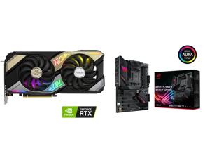 ASUS KO GeForce RTX 3070 8GB GDDR6 PCI Express 4.0 Video Card KO-RTX3070-O8G-GAMING and ASUS ROG STRIX B550-F GAMING AM4 AMD B550 SATA 6Gb/s ATX AMD Motherboard