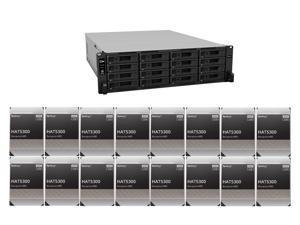 """Synology 16 bay RackStation RS4021xs+ (Diskless) and 16 x Synology 12TB Enterprise HDD SATA III 6Gb/s 512e 7200 RPM 256MB Cache 3.5"""" Internal Hard Drive HAT5300-12T"""