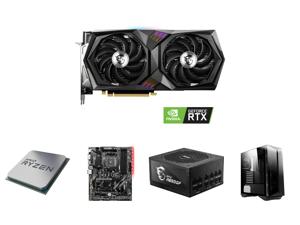 MSI Gaming GeForce RTX 3060 12GB GDDR6 PCI Express 4.0 Video Card RTX 3060 Gaming X 12G and AMD RYZEN 7 3700X 8-Core 3.6 GHz (4.4 GHz Max Boost) Socket AM4 65W 100-100000071BOX Desktop Processor and MSI B450 TOMAHAWK MAX AM4 AMD B450 SATA 6