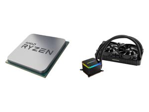 AMD RYZEN 7 3700X 8-Core 3.6 GHz (4.4 GHz Max Boost) Socket AM4 65W 100-100000071BOX Desktop Processor and Enermax LIQTECH II 240 Addressable RGB All-in-one CPU Liquid Cooler for AM4/ LGA1200 240mm Radiator Dual-Chamber RGB Pump T.B. Pressu