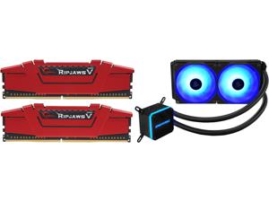 G.SKILL Ripjaws V Series 16GB (2 x 8GB) 288-Pin DDR4 SDRAM DDR4 3200 (PC4 25600) Desktop Memory Model F4-3200C16D-16GVRB and Enermax LIQMAX III RGB 240 All-in-one CPU Liquid Cooler for AM4 / LGA1200 240mm Radiator Dual-Chamber Water Block R