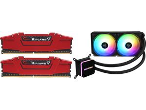 G.SKILL Ripjaws V Series 16GB (2 x 8GB) 288-Pin DDR4 SDRAM DDR4 3200 (PC4 25600) Desktop Memory Model F4-3200C16D-16GVRB and Enermax LIQMAX III ARGB 240 Addressable RGB All-in-one CPU Liquid Cooler for AM4 / LGA1200 240mm Radiator Dual-Cham