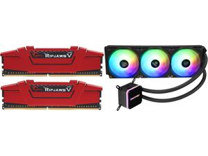 G.SKILL Ripjaws V Series 16GB (2 x 8GB) 288-Pin DDR4 SDRAM DDR4 3200 (PC4 25600) Desktop Memory Model F4-3200C16D-16GVRB and Enermax LIQMAX III ARGB 360 Addressable RGB All-in-one CPU Liquid Cooler for AM4 / LGA1200 360mm Radiator Dual-Cham