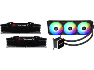 G.SKILL Ripjaws V Series 32GB (2 x 16GB) 288-Pin DDR4 SDRAM DDR4 3200 (PC4 25600) Desktop Memory Model F4-3200C16D-32GVK and Enermax LIQMAX III ARGB 360 Addressable RGB All-in-one CPU Liquid Cooler for AM4 / LGA1200 360mm Radiator Dual-Cham