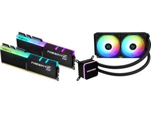 G.SKILL TridentZ RGB Series 32GB (2 x 16GB) 288-Pin DDR4 SDRAM DDR4 3600 (PC4 28800) Intel XMP 2.0 Desktop Memory Model F4-3600C16D-32GTZRC and Enermax LIQMAX III ARGB 240 Addressable RGB All-in-one CPU Liquid Cooler for AM4 / LGA1200 240mm