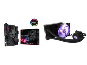 ASUS ROG STRIX B550-F GAMING AM4 ATX AMD Motherboard and Cooler Master MasterLiquid ML120L RGB Close-Loop CPU Liquid Cooler 120mm Radiator Dual Chamber RGB Pump Dual MF120R RGB Fans RGB Lighting for AMD Ryzen/Intel LGA1200/1151