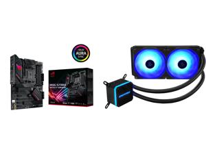 ASUS ROG STRIX B550-F GAMING AM4 ATX AMD Motherboard and Enermax LIQMAX III RGB 240 All-in-one CPU Liquid Cooler for AM4 / LGA1200 240mm Radiator Dual-Chamber Water Block RGB Fan 5 Year Warranty