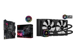 ASUS ROG STRIX B550-F GAMING AM4 ATX AMD Motherboard and CORSAIR iCUE H115i RGB PRO XT 280mm Radiator Dual 140mm PWM Fans Software Control Liquid CPU Cooler CW-9060044-WW