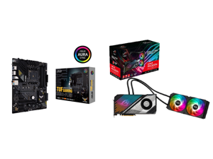 ASUS TUF GAMING B550-PLUS AMD AM4 (3rd Gen Ryzen) ATX Gaming Motherboard (PCIe 4.0 2.5Gb LAN HDMI 2.1 BIOS FlashBack USB 3.2 Gen 2 Addressable Gen 2 RGB Header and AURA Sync) and ASUS ROG Strix Radeon RX 6900 XT 16GB GDDR6 PCI Express 4.0 x