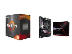 AMD Ryzen 9 5950X 16-Core 3.4 GHz Socket AM4 105W 100-100000059WOF Desktop Processor and ASUS ROG Crosshair VIII Formula AMD X570 AM4 ATX Motherboard with PCIe 4.0 Dual M.2 SATA 6Gb/s USB 3.2 Gen 2 5Gbps LAN Wi-Fi 6